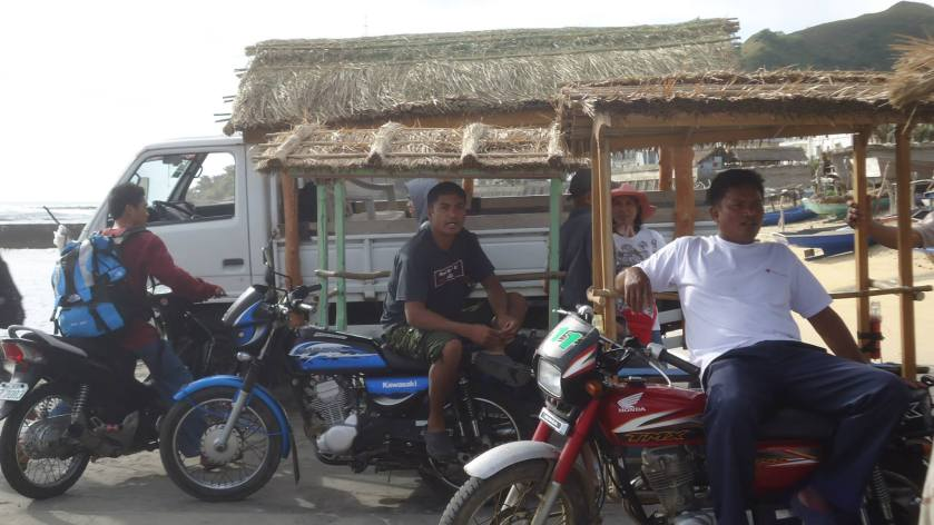 Cogon topped tricycles